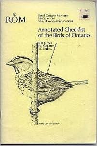 Annotated Checklist Birds Ont