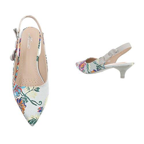 Grau 50710 femme Femme B Multi escarpins 55 chaussures qwT6BwvA