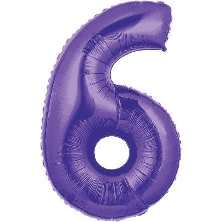 Purple #6 Balloon 40