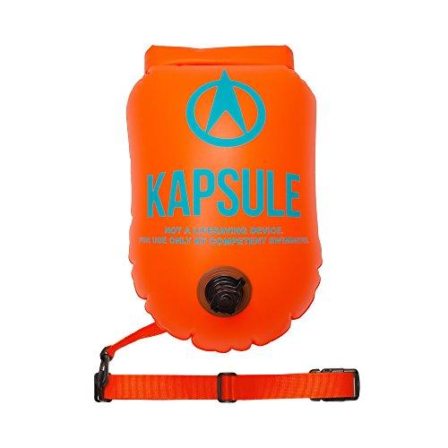 a8604d7ef744 KAPSULE Swim Buoy - 20L Orange Waterproof Dry Bag
