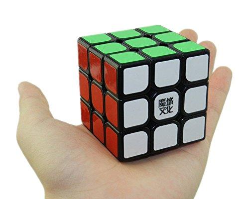 D-FantiX Yj Moyu Hualong Speed Cube 3x3 Smooth Magic Cube Puzzles Kids Toys Black