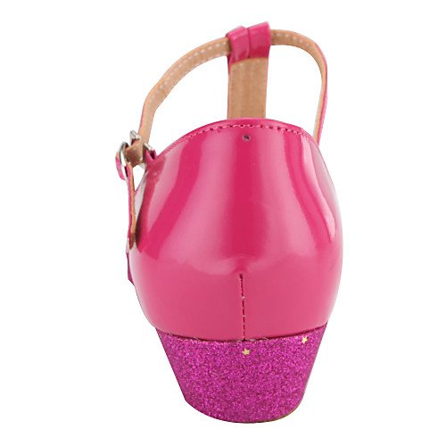 T Glitter Strap Shoes T Q Stylish Sparkling T Fuchsia Fuchsia Ballroom Women's Colors Dance Kid's More 4dw8Yq