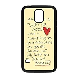LTTcase Custom Bible Verses Quotes Durable Case for samsung galaxy s5 i9600