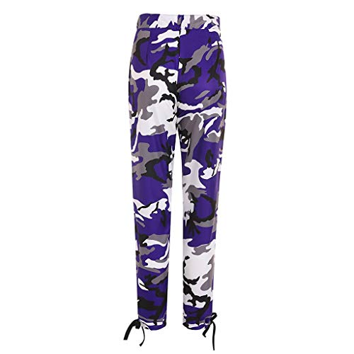Pervobs Women's Casual Fashion Camouflage Sweatpants High Waist Sports Camouflage Pencil Trousers Pants(XL, Purple) by Pervobs Women Pants (Image #4)