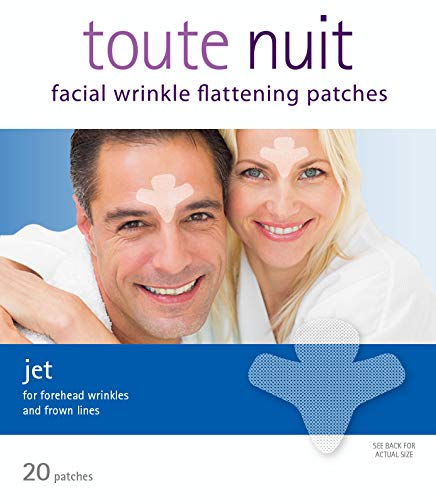 Toute Nuit Facial Wrinkle Flattening Patches - JET Extra Large UNISEX Frown Lines Plus (Anti-Wrinkle Patches/Face Tape)