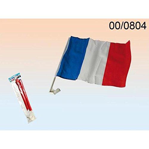 Out of the blue LOT de 2 Drapeaux de supporter pour la voiture FRANCE bleu blanc et rouge 00/0804