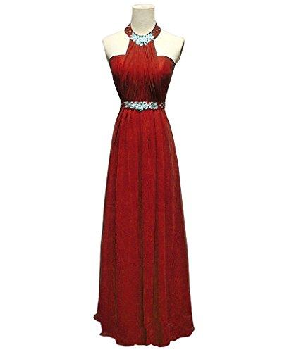 Mujer Vimans Para Vestido Granate Trapecio qrtwSWgr