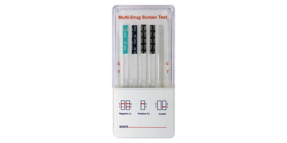 UTest-O-Meter 4 Level THC Marijuana Drug Test Strips - 20 ng/mL, 50 ng/mL, 100 ng/mL and 200 ng/mL, Single Use (2-pack)