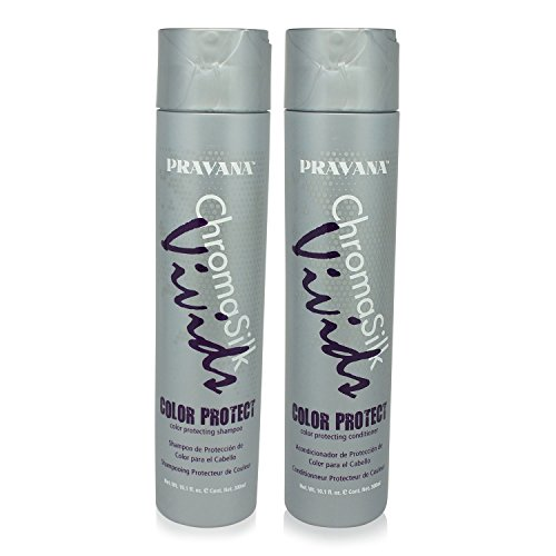 PRAVANA CHROMASILK VIVIDS COLOR PROTECTING SHAMPOO & CONDITIONER SET 10.1oz Each by Pravana (Conditioner Protecting Colour)