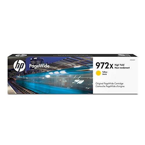 (HP 972X Yellow High Yield PageWide Cartridge (L0S04AN) for HP PageWide Pro 452dn 452dw 477dn 477dw 552dw 577dw 577z)