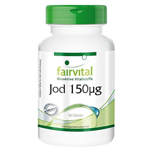 Jodtabletten hochdosiert 150 µg (aus Kaliumjodid) 180 Tabletten, vegetarisch