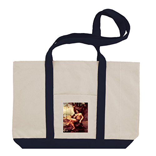 Bacchus (Da Vinci) Cotton Canvas Boat Tote Bag Tote - - Bacchus Canvas