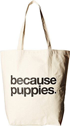 Dogeared Unisex Because Puppies Tote Black/canvas Tote T20033