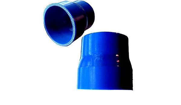 Blue Silicone Reducer 3.25 to 2.5