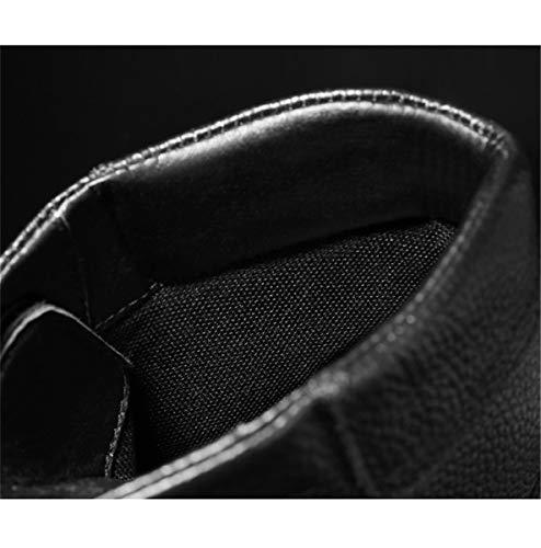 Scarpe Scarpe Uomo più Stivali Caldo da Alta Alta HHXWU Neve Superiore Martin Scarpe Pelle Invernali Stivali da nero Velluto gt0ndT