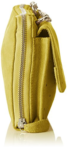 Petite Mendigote Damen Ariane Umhängetasche, 3x12x15 cm Gelb (Lime)