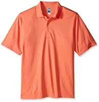 PGA TOUR Men's Short Sleeve Airflux Solid Polo Shirt