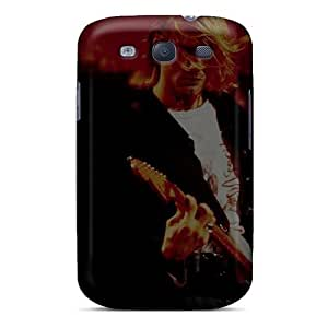 Durable Hard Cell-phone Case For Samsung Galaxy S3 With Allow Personal Design Stylish Kurt Cobain Live Skin JamieBratt