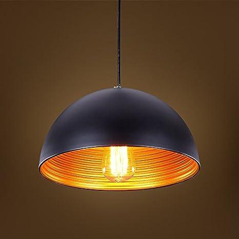 Glighone Lámpara Colgante 40W Lámpara de Techo Luz Industrial Luz Vintage de Pantalla de Metal Estilo Rústico Casquillo E27 No Incluye Bombillas para ...