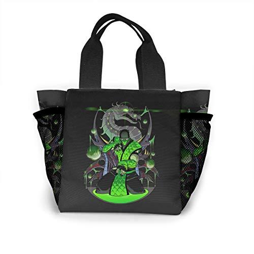 (LKO XSTB Mortal Kombat Lunch Bag Women 3D Print Pattern Reusable Shopping Bag Water-Resistant Leakproof Thermal Tote Bag for)