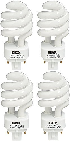 Eiko 05251 - SP13/27-4P Twist Pin Base Compact Fluorescent Light Bulb - 4 - Bulb Eiko