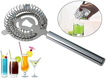 Fgdjfh Hawthorn Cocktail Sieb Edelstahlsieb für professionelle Barkeeper und Mixologen mit Drahtfeder