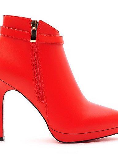 Moda Uk6 Cn39 De Zapatos La Noche Eu37 us6 Vestido Cn3 Xzz A Botines Stiletto negro Black Fiesta 7 Eu39 Y Botas Tacones 5 us8 Tacón Uk4 Mujer Sintético Red Cn37 5 Casual 5 v1znw