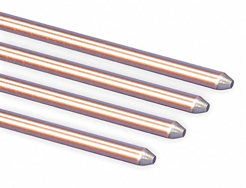 Erico 615880 Electrolytic Copper Coating Copper Bonded Steel Pointed Ground Rod 5/8 Inch x 8 (Erico Rod)