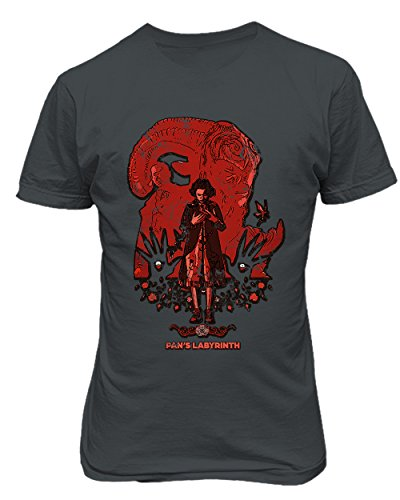 RIVEBELLA New Graphic Shirt Pans Labyrinth Novelty Tee Men's T-Shirt (Charcoal, 2XL)