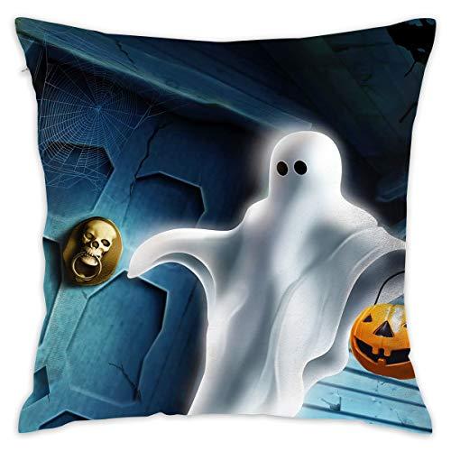 Markui Throw Pillow Cover Halloween Ghost Bed Sofa Pillow Case Sleeping Pillow Soft Cushion 18