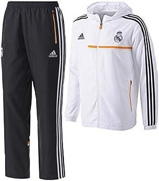 adidas Chándal Jr Real Madrid 13-14 Blanco Talla 176: Amazon.es ...