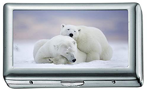 Card Pit Snow - Polar Bear Cold Snow el Cigarette Case/Box, Credit Card Case for Women Men