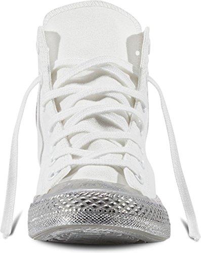 Converse 156769 Chuck Taylor All Star Unisex Sneaker (white/silver)