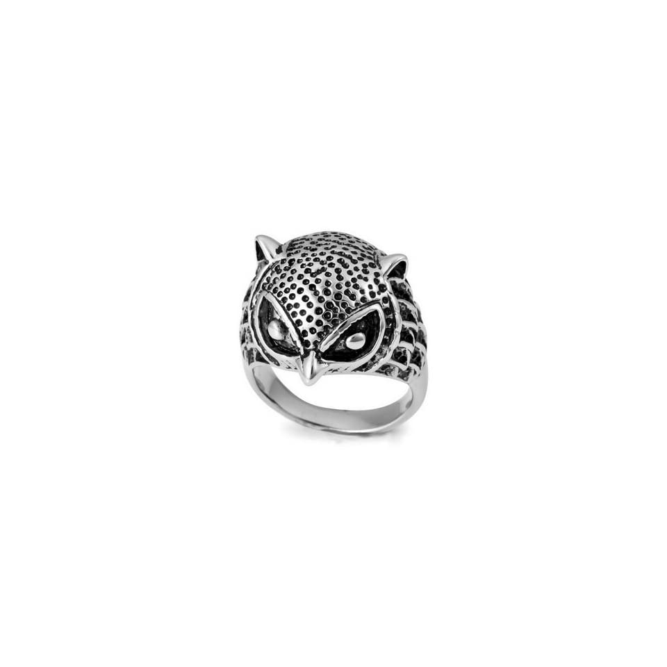 UNIQUE MENS Owl Stainless Steel RingSize 8 Justeel Jewelry