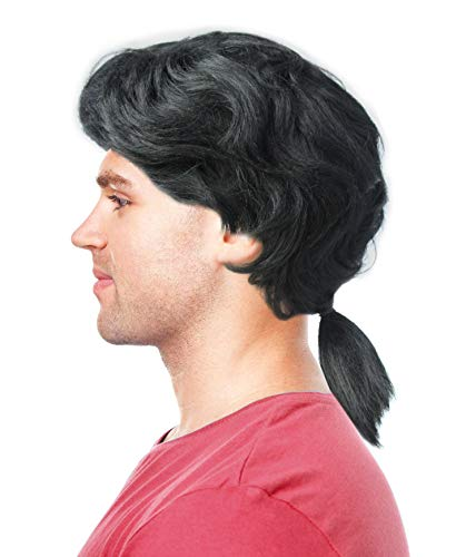 Gaston Wig Gaston Costume Wig Mens Colonial Ponytail Wig Ponytail Wig for Men