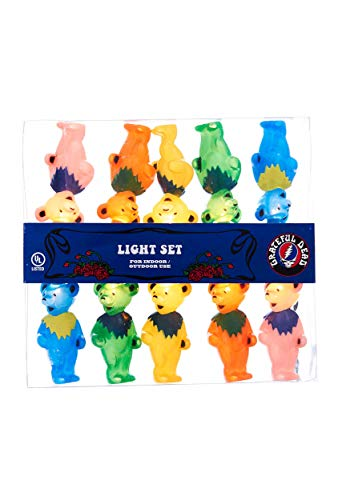 Grateful Dead Kurt Adler UL 10-Light Bears Light Set (GD9141)