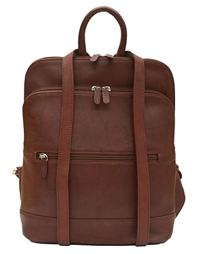 ili Leather 6505 Backpack Handbag (Redwood) by ILI