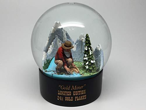 Limited Edition Snowglobe - Snow Globe Gold Miner Gold Mining Collectable Limited Edition 24k Gold Flake Decor