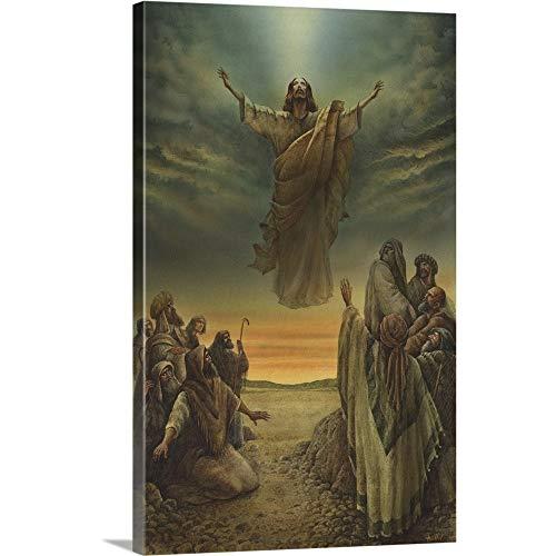 Jesus Ascending into Heaven Canvas Wall Art Print, 16