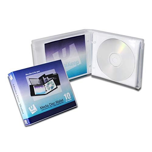 (UniKeep Disc 10 CD/DVD Wallet with 10 Pages - Pack of 3)