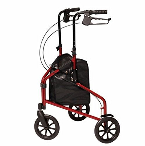 3-Wheel Cruiser: GF 3-Wheel Cruiser, Aluminum Rollator/CS Metallic Burgundy