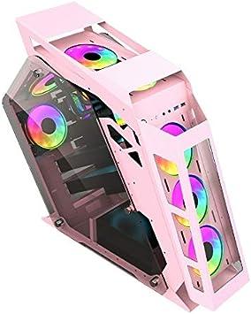 YOFEE ZJTD Caja de la computadora del Caso ATKK Ordenador Principal Gaming Internet Cafe, Color: Gran Café Rosa: Amazon.es: Electrónica