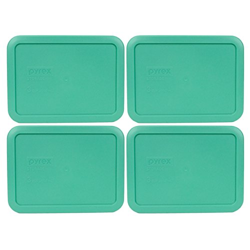 Pyrex 7210-PC Rectangle 3 Cup Storage Lid for Glass Dish (4, Light Green) (Rectangle Glass Lid compare prices)