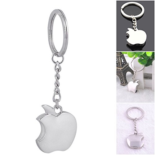 1Pc Effective Unique Mini Pocket Funny Apple Vintage Alloy Fashion Cute Multiple Tool Utility Accessories Strap Wrist Holder Finder Men Women Teen Teenagers Color Silver