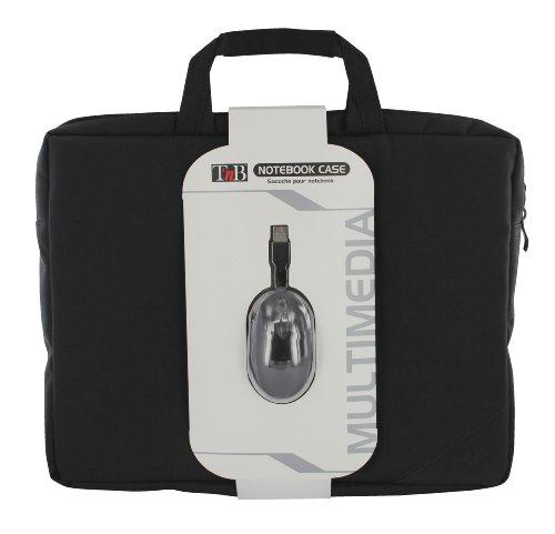 T 'nB First Set mit Koffer aus nylon, 39,6 cm (15,6 Zoll) Notebook Maus schwarz