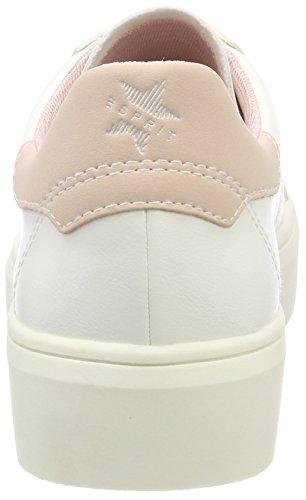 Nude Sneakers Low Beige Lace Elda Up Women's ESPRIT Top qfz8ww