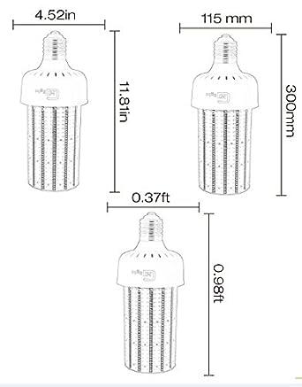 ltd NGWL-50W14S AC100-277V Shenzhen Nuoguan Technology Co NGTlight 400Watt Metal Halide Equivalent 120W LED Corn Bulb High Bay Parking Lot Light Retrofit E39 Mogul Base 6000K Daylight