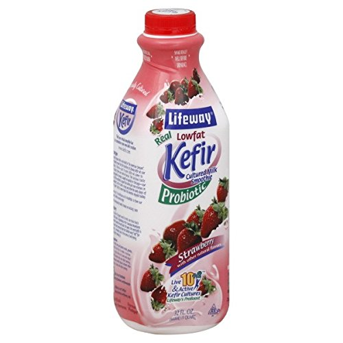 Lifeway Lowfat Kefir, Strawberry, 32 Ounce (Pack of 06)