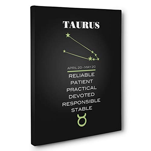 Astrological Zodiac Sign Taurus Canvas Wall Art Decor ()