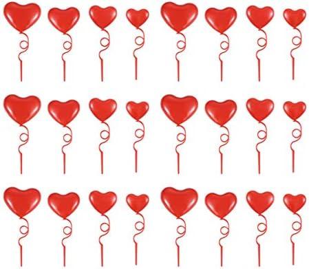Amosfun 32ピースハートカップケーキトッパーウェディングケーキトッパーパーティーデザートトッパー用バレンタインデー結婚式誕生日パーティーケーキデコレーション